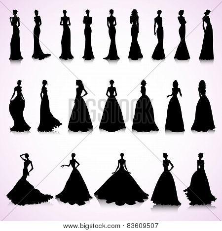 Set Of Wedding Dresses