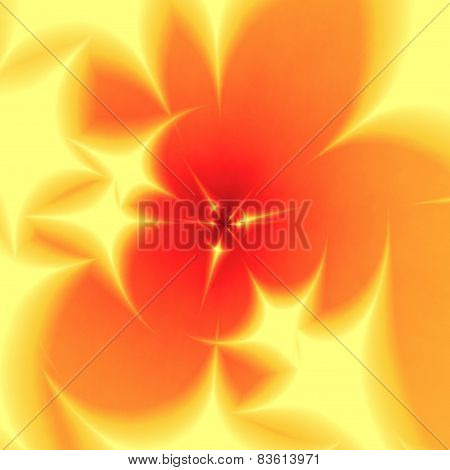 Abstract blurred yellow orange fractal background