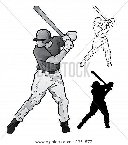 Baseball Player Illustration