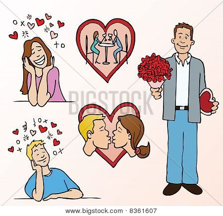 Dating and romance cartoons