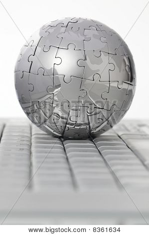 Globe on keyboard