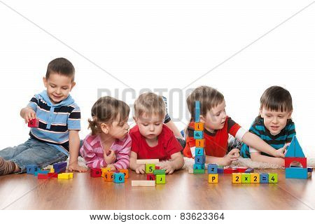 Five Children In Kindergarten