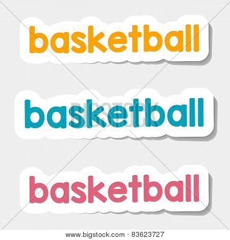 Vector logo basketball on a light background