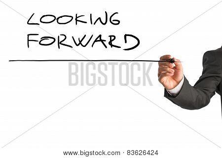 Writing Looking Forward On Virtual Screen
