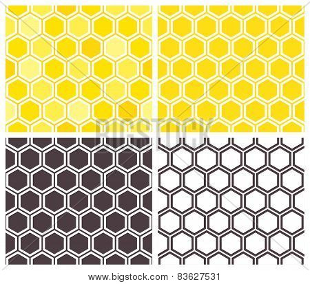 Honeycomb Seamless Pattern Set
