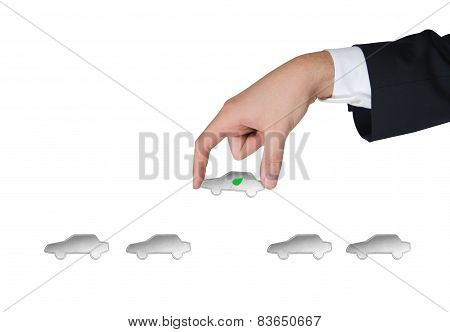 Hand Holding Electrocar