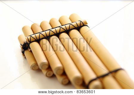 Pan Flute Close-up Isolated