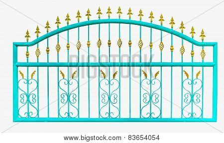 Metal Fence ,isolate,white Background