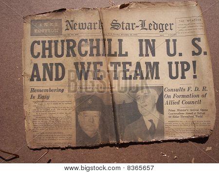 Historical World War Headlines 1