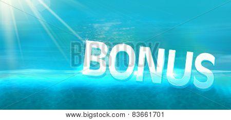 Bonus diving in blue ocean