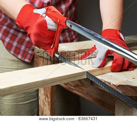 Sawing wooden board composition
