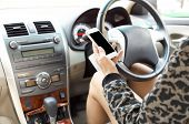 Driving and using cellphone is dangerous and unsafe for other people poster