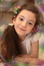 Beautiful girl schoolgirl