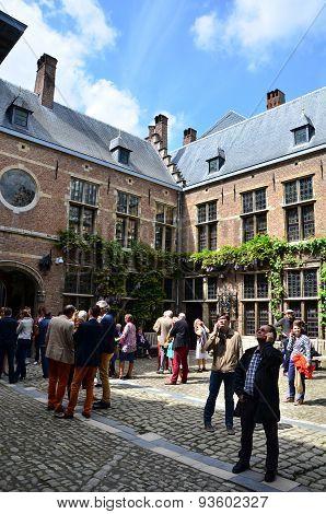 Antwerp, Belgium - May 10, 2015: Tourist Visit Rubenshuis (rubens House) In Antwerp.