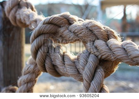 Large knot made of rope