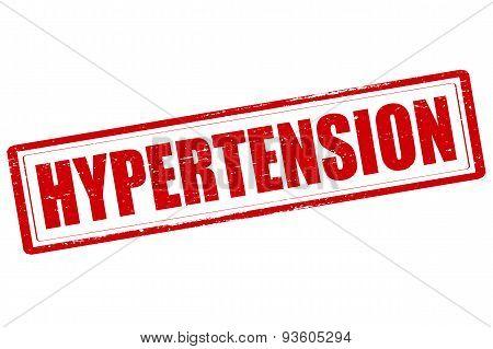 Rubber stamp with word hypertension inside vector illustration