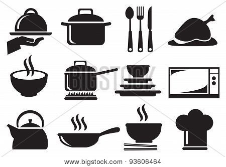 Kitchen Utensil Vector Icon Set