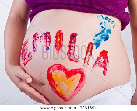 Painting Fun With Pregnancy