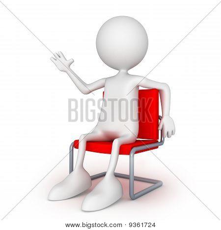 Hi. Sitting On Easy Chair