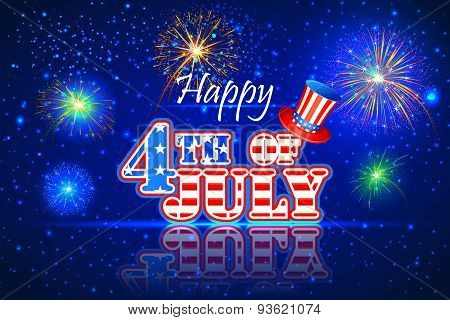 vector illustration of background for Fourth of July American Independence Day poster