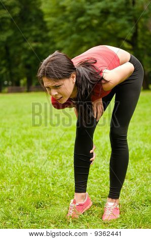 Calf Injury - Sportswoman In Pain