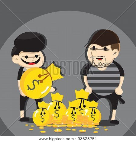 Thief cartoon
