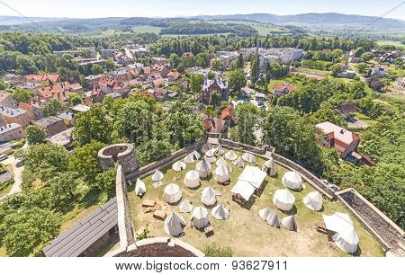Panoramic View Of Bolkow Town, Poland.
