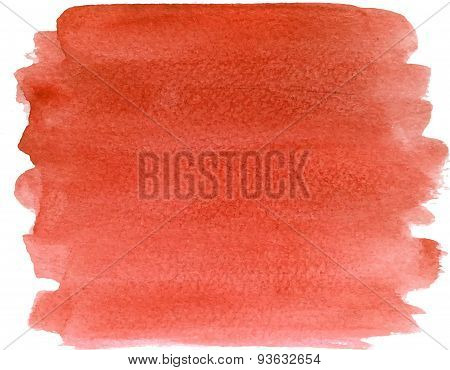 Abstract watercolor hand paint grunge red texture
