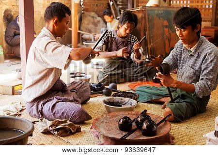 Lacquerware Crafts In Myanmar