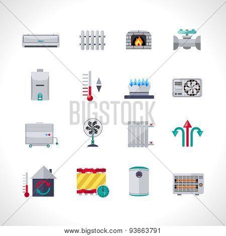 Heating Icons Set