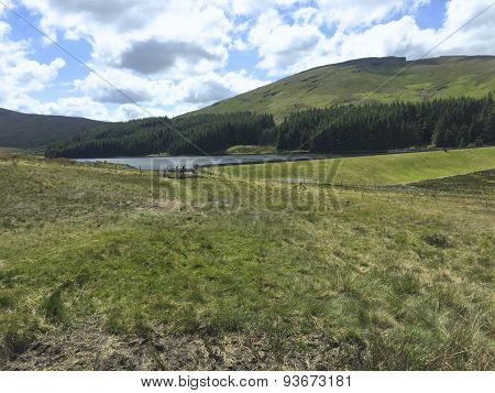 A view of a small reservoir in the Mourne Mountains