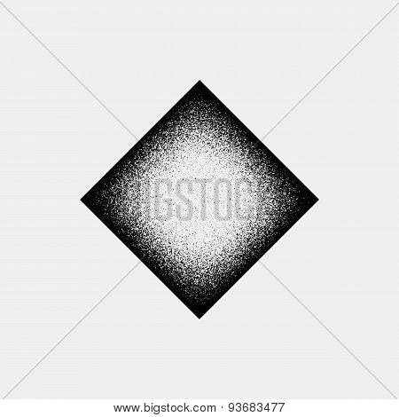 Abstract Rhombic Badge