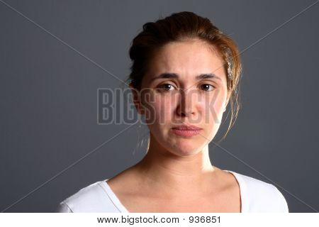 Brunette Girl Sad