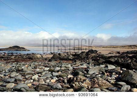 Rocky Beach On Islay, Scotland