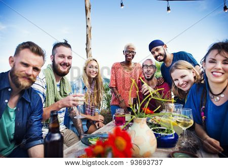 Beach Summer Dinner Party Celebration Concept poster