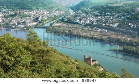 Looking Down On River Rhine