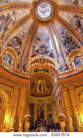 Dome Stained Glass San Francisco El Grande Royal Basilica Dome Madrid Spain