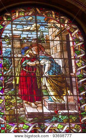 Mary Joseph Stained Glass San Francisco El Grande Royal Basilica Madrid Spain