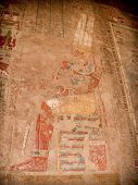 Detail of colored reliefs at the Temple of Hatshepsut at Deir el-Bahari (Egypt) poster