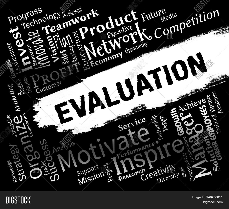 Evaluation Words Represents Image & Photo | Bigstock