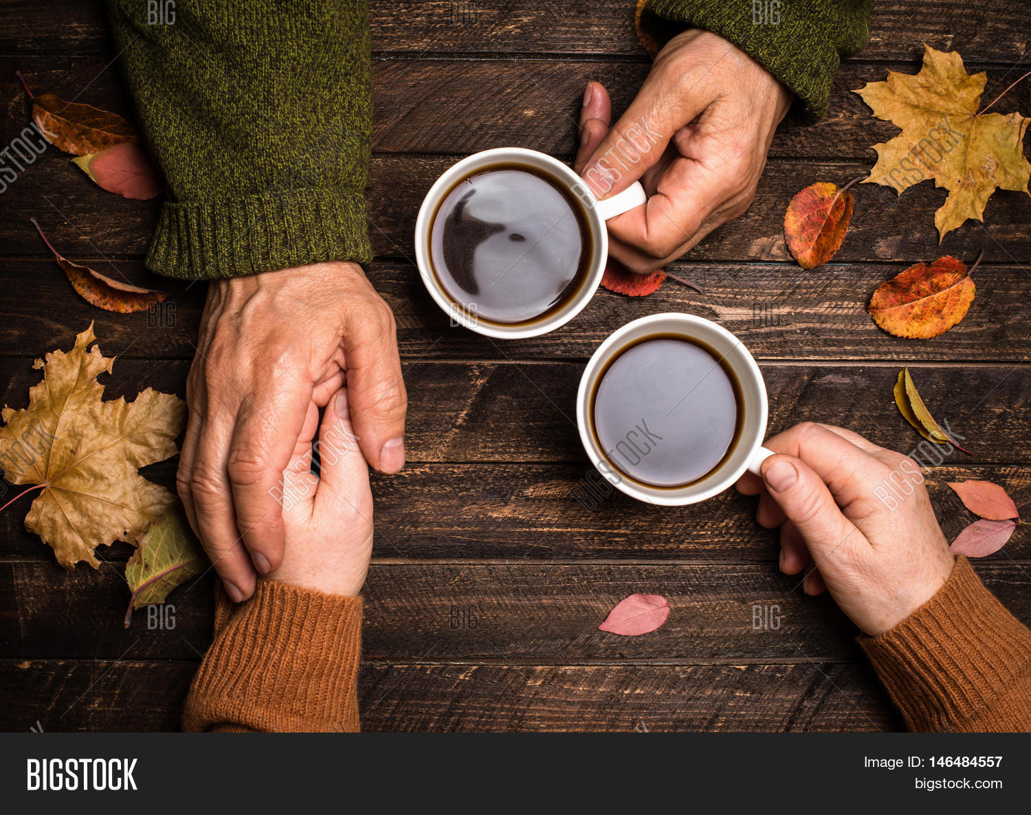 Old People Holding Hands. Closeup. Image & Photo | Bigstock