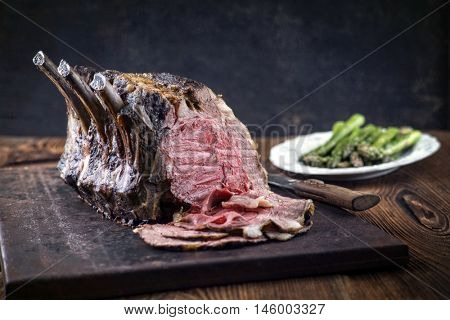 Rib of Beef Cold Cut with Green Asparagus