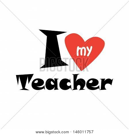 World Teachers' Day. Abstract background with red heart. Vector illustration. School, Education background. World Teachers' Day is celebrated every year on 5th October.