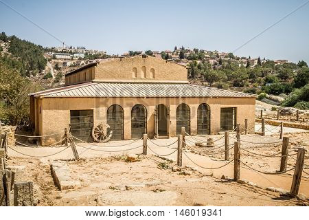 Byzantine basilica in the archaeological park of the Biblical Shiloh in Samaria, Israel
