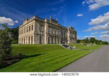 Photograph of an English 19th Century Stately Home Brodsworth South Yorkshire.