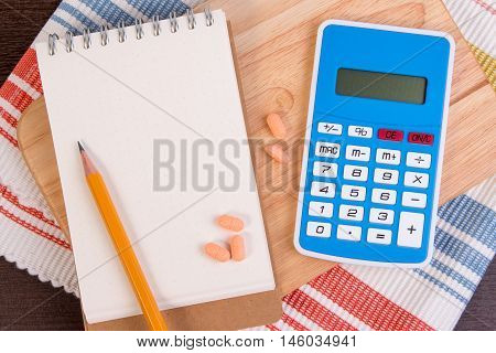Calculate Calories To Lose Weight. Calorie Counting On A Paper. (diet Concept)