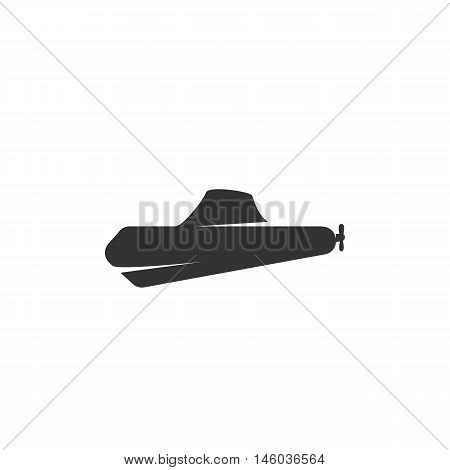 Vector Submarine icon isolated on a white background. Submarine logo in flat style. Simple icon as element for design. Vector symbol, sign, pictogram, illustration