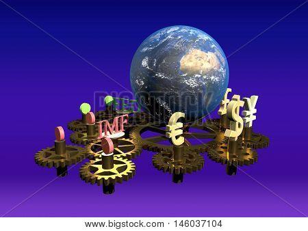 Global finance concept, global business background, financial collage, financial concept, financial markets.