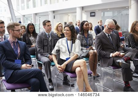 Audience Waiting For Speaker At Conference Presentation