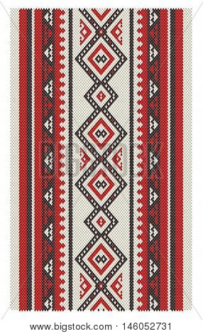 A Beautiful Middle Eastern Vertical Sadu Style Pattern